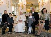 Setkání Svatého Otce s rodinou Václava Klause