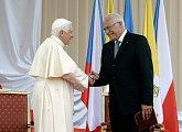 Rouzloučení s Jeho Svatostí papežem Benediktem XVI.