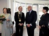 Prezident s manželkou Livií a starosta Prahy 6 s paní Kateřinou Chalupovou