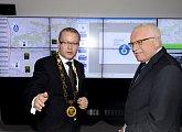 Prezident a starosta Prahy 6 v řídicím středisku