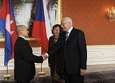 Setkání s českým prezidentským párem