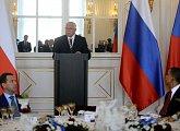 Zahájení oběda na počest podpisu nové smlouvy START mezi USA a Ruskem