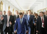Před odjezdem Dmitrije Medveděva z Pražského hradu