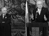 Tisková konference českého a polského prezidenta