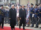 Uvítací ceremoniál s vojenskými poctami