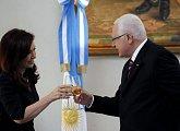 Státní oběd na pozvání argentinské prezidentky Kirchnerové