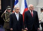 Uvítání prezidentem Sebastianem Piňerou Echeňique