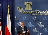 Přednáška v prestižní Heritage Foundation