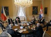 Summit prezidentů České, Slovenské, Srbské a Chorvatské republiky na zámku v Lánech