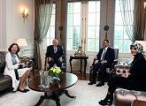 Setkání s prezidentským párem Turecka