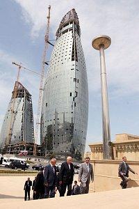 Moderní výstavba v Baku
