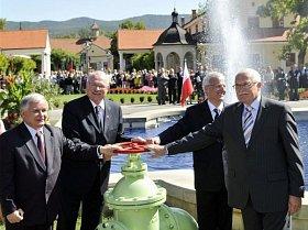 Prezidentský summit V4 ve slovenských Piešťanech.