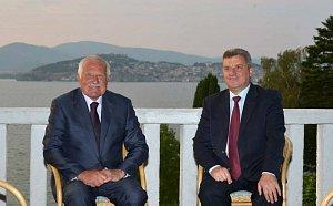 Václav Klaus s prezidentem Makedonské republiky Gjorgem Ivanovem