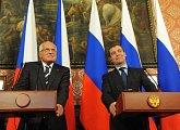 S prezidentem Medveděvem na tiskové konferenci