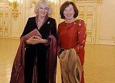 Livia Klausová s vévodkyní z Cornwallu