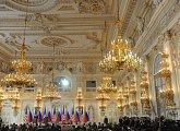 Tisková konference ruského a amerického prezidenta ve Španělském sále