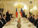 Večeře na počest návštěvy prezidenta Medveděva