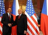 Uvítání prezidenta Obamy na pražském hradě