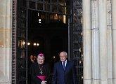 Podpis Slavnostního prohlášení o úpravě vzájemných vztahů při péči o Katedrálu sv. Víta