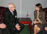 S prezidentkou Kostariky Laurou Chichillaovou