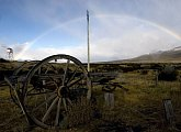 Patagonská duha a nádherná krajina