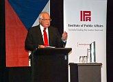 Prezident při projevu v Brisbane