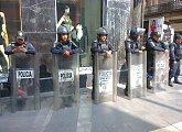 Stálá přítomnost policie v ulicích Mexico City