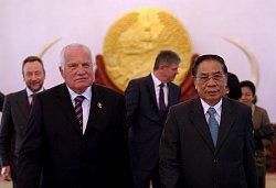 Po jednání s Laoským prezidentem