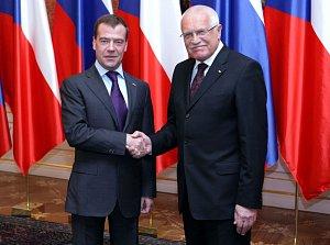 Setkání prezidenta republiky s Dmitrijem Medveděvem na Pražském hradě
